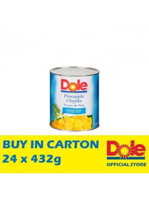 Dole Pineapple Chunks in Extra Light Syrup 24 x 432g