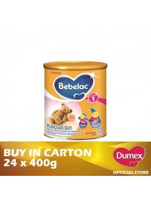 Dumex Bebelac 1 Infant Formula Milk Powder 0 – 12 Bulan 24 x 400g