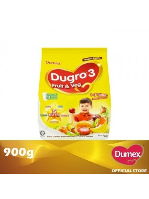 Dumex Dugro 3 Fruit & Veg Milk Powder 1 – 3 Tahun 900g
