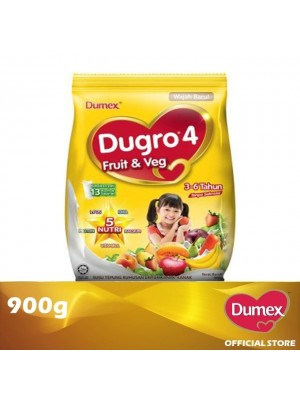 Dumex Dugro 4 Fruit & Veg Milk Powder 3 - 6 Tahun 900g