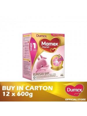 Dumex Mamex Cherish 1 Infant Formula Milk Powder 0 -2 Bulan  12 x 600g