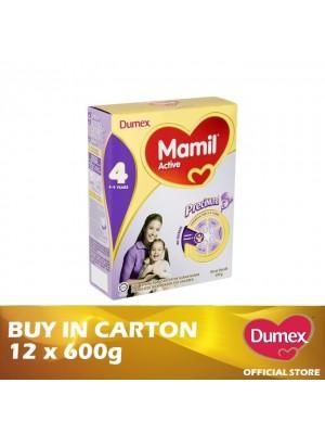 Dumex Mamil Active 4 Milk Powder 4 - 9 Tahun 12 x 600g