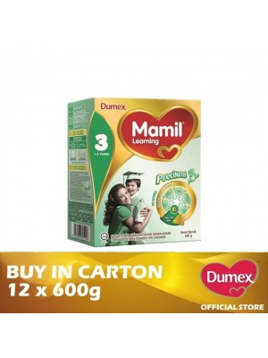 Dumex Mamil Learning 3 Milk Powder 1 - 3 Tahun 12 x 600g
