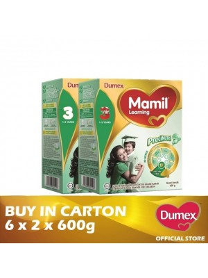 Dumex Mamil Learning 3 Milk Powder 1 - 3 Tahun Twin Pack 6 x 2 x 600g
