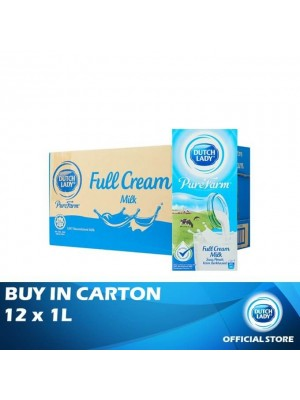 Dutch Lady UHT Pure Farm Full Cream 12 x 1L