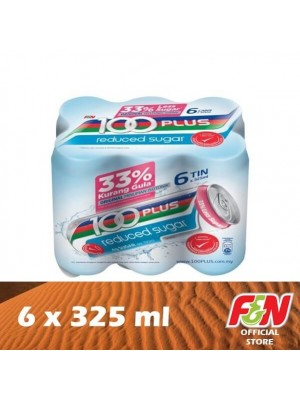 F&N 100 Plus Reduced Sugar 6 x 325ml (EXP : 06/2021) [CTE]