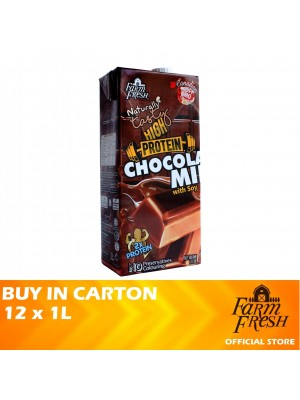 Farm Fresh UHT Chocolate Milk With Soy 12 x 1L