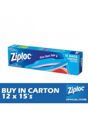 Ziploc Freezer Gallon 12 x 15's
