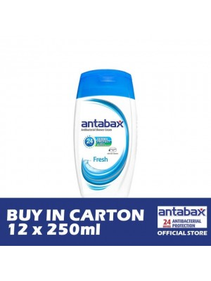 Antabax Anti-Bacterial Shower Gel - Fresh 12 x 250ml