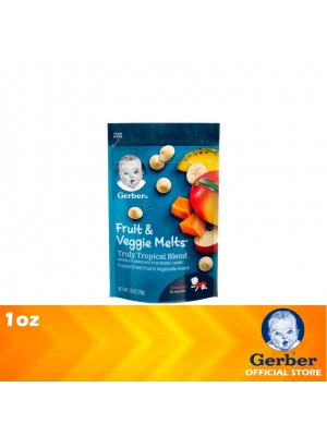Gerber Fruit & Veggie Melts Truly Tropical Blend 1oz