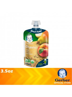 Gerber Organic 2nd Food Pear Peach Oatmeal 3.5oz