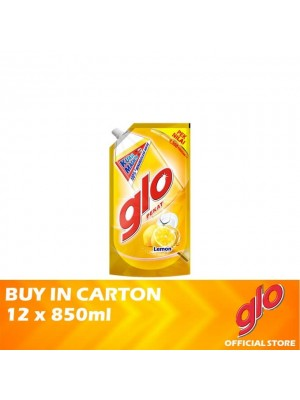 Glo Active Foam Lemon Dishwashing Liquid Refill 12 x 850ml