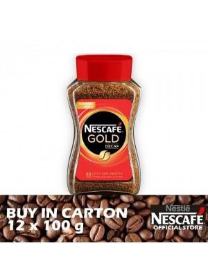 Nestle Nescafe Gold Decaf Jar 12 x 100g