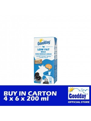 Goodday UHT Low Fat Milk Combi 4 x 6 x 200ml