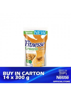 Nestle Fitnesse Granola Honey Breakfast Cereal 14 x 300g