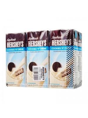 Hershey's Soyfresh Cookies N Creme Flavoured Soya Milk 6 x 200ml