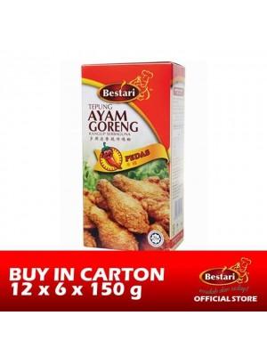 Bestari Fried Chicken Coating - Hot & Spicy 12 x 6 x 150g [Essential]