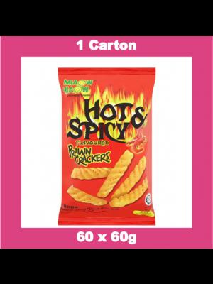 Miaow-Miaow  Hot & Spicy Prawn Crackers  60x60g