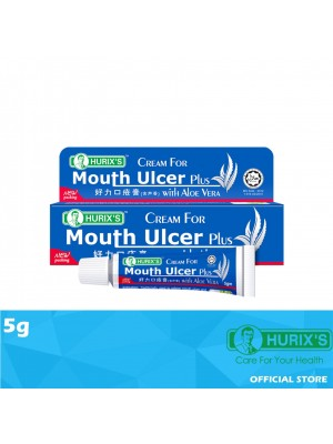 Hurix's Cream For Mouth Ulcer Plus with Aloe Vera 5g