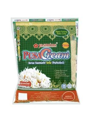 Jasmine Beras Basmathi Pusa Cream Parboiled 5kg