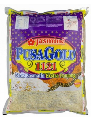 Jasmine Pusa Gold 1121 Beras Basmathi Super Long 5kg [Essential]