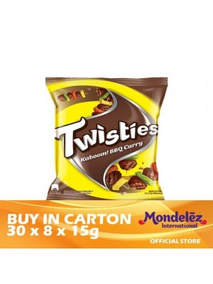 Twisties Kaboom Barbecue Curry 30 x [Multi-Pack 8 x 15g] [Essential]