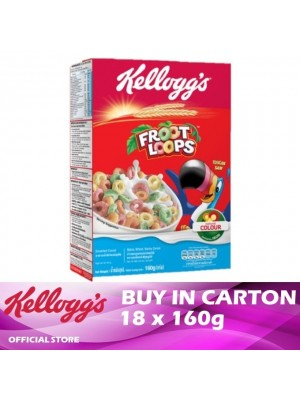 Kellogg's Froot Loops Breakfast Cereal 18 x 160g
