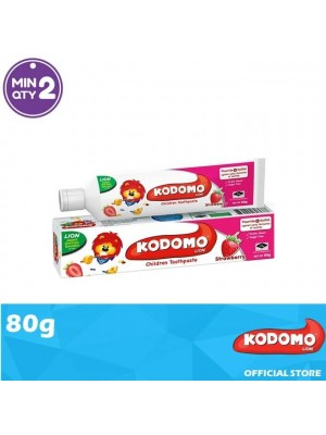 Kodomo Lion Toothpaste Strawberry Flavour 80g