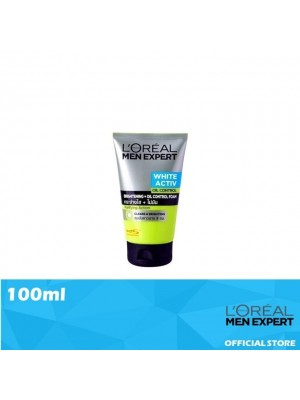 L'Oreal Men Expert White Activ Oil Control Foam 100ml