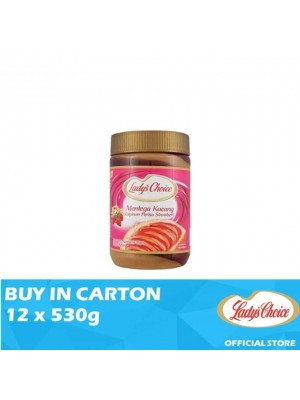 Lady's Choice Peanut Butter Strawberry Stripe 12 x 530g