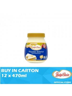 Lady's Choice Real Mayonnaise Jar 12 x 470ml
