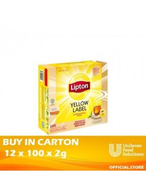 Lipton Yellow Label Tea Bags (Enveloped) 12 x 100 x 2g
