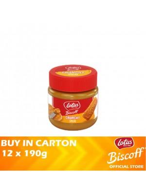 Lotus Biscoff Spread Crunchy 12 x 190g