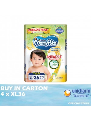 MamyPoko Extra Dry Protect Tape 4 x XL36