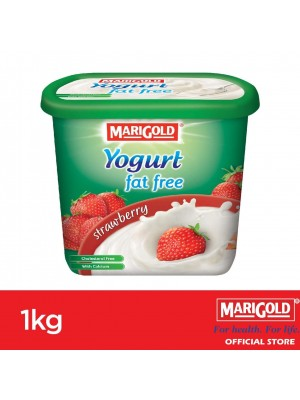 Marigold 0% Fat Yogurt Strawberry Flavour 1kg