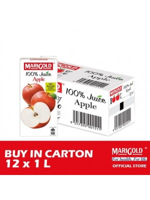 Marigold 100% Juice Apple 12 x 1L