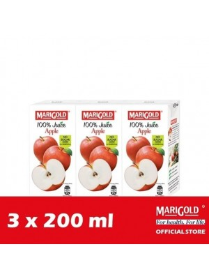 Marigold 100% Juice Apple 3 x 200ml