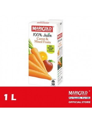 Marigold 100% Juice Carrot & Mixed Fruits 1L [Essential]
