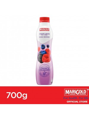 Marigold Fat Free Yogurt Drink Mixed Berries Flavour 700g