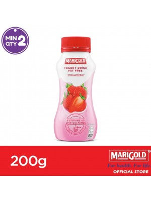 Marigold Fat Free Yogurt Drink Strawberry Flavour 200g