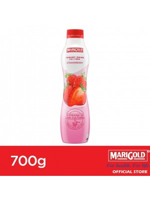 Marigold Fat Free Yogurt Drink Strawberry Flavour 700g