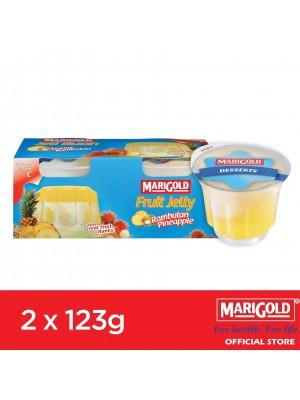 Marigold Fruit Jelly Rambutan Pineapple Flavour 2 x 123g