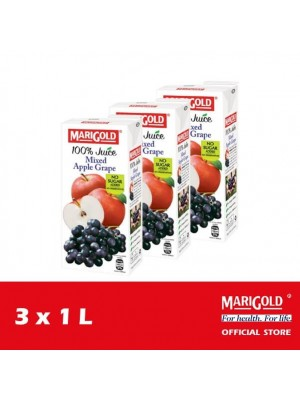 Marigold 100% Juice Mixed Apple Grape 3 x 1L [LCD]