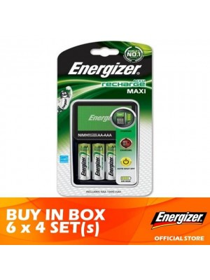 Energizer MAXI Charger Recharge + AA 2000mAh Rechargeable Battery 4pcs x 6 Sets