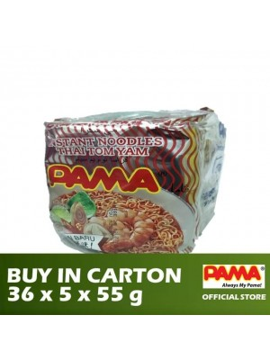 Pama Instant Mee Thai Tom Yam Flavour 36 x 5 x 55g [Essential]