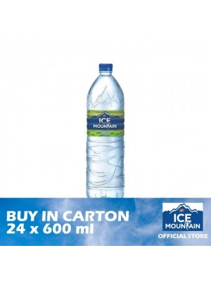 F&N Ice Mountain Mineral Water 24 x 600ml [Essential]