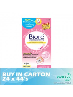 Biore Makeup Remover Wipes Refill 24 x 44's