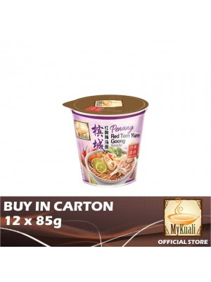 MyKuali Penang Red Tom Yum Goong Noodle Cup 12 x 85g