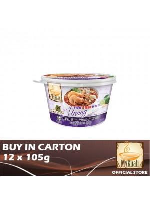 MyKuali Penang Red Tom Yum Goong Rice Vermicelli Soup Bihun 12 x 105g