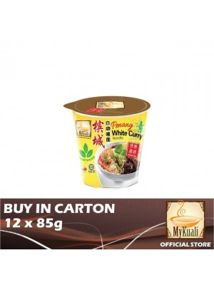 MyKuali Penang White Curry Noodle Vegetarian Cup 12 x 85g [Essential]